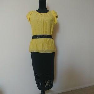 Unique design Black Skirt